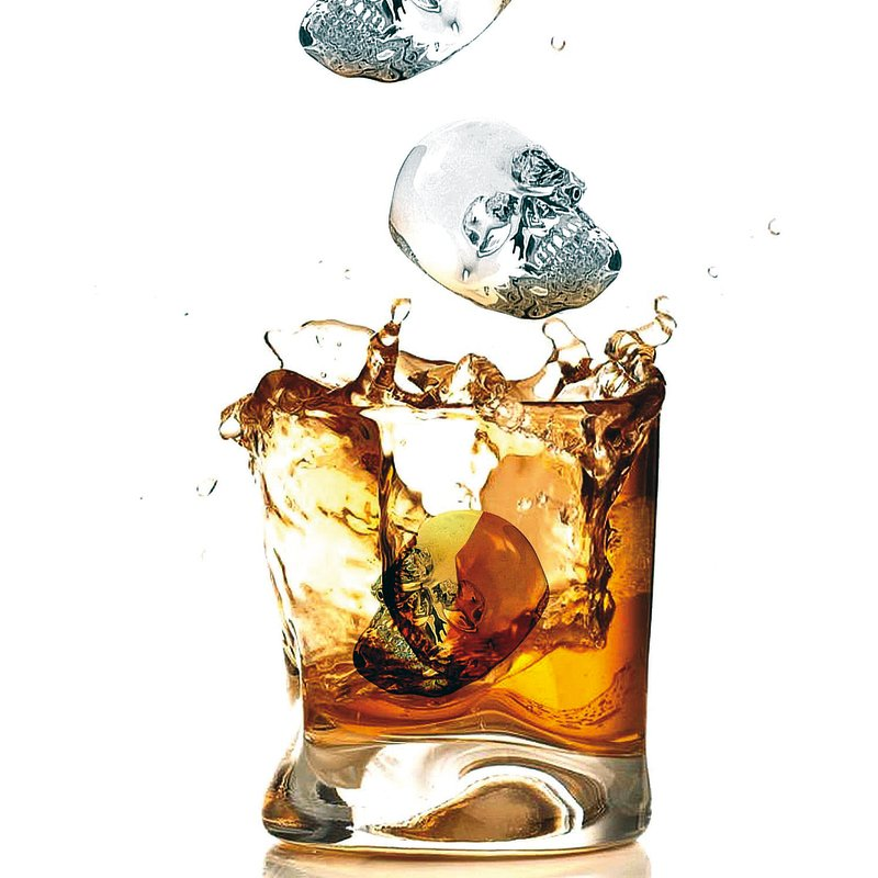 Ice mold, skulls - Cocktails
