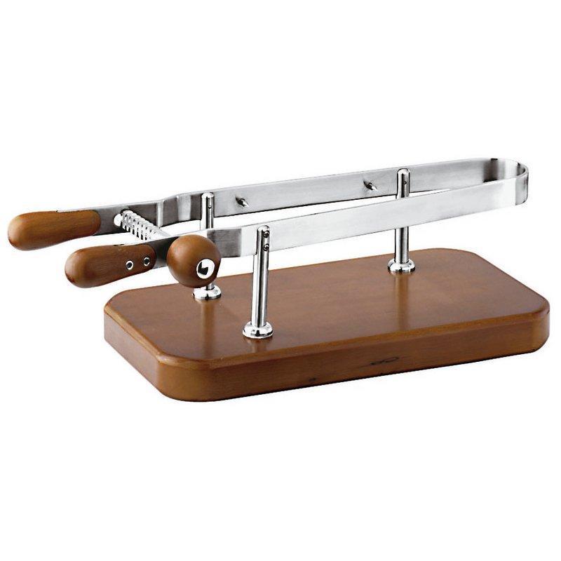 Ferma prosciutto base legno - Complementari coltelleria