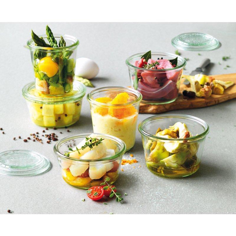 Vasetti con coperchio, 12 pz - Accessori per la tavola