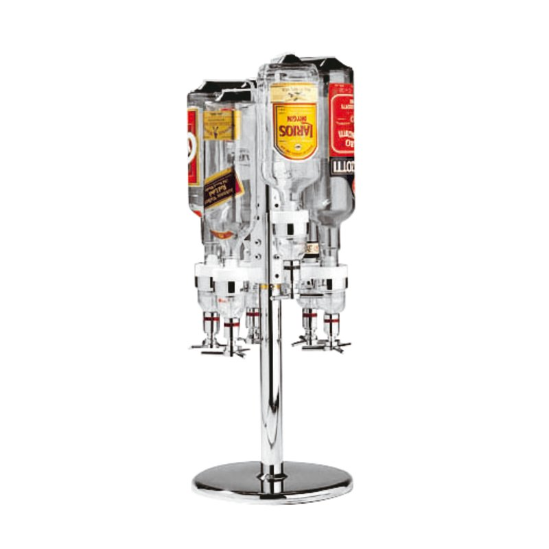 Counter rotating support for bottles - Pourers, corks, and corkscrews
