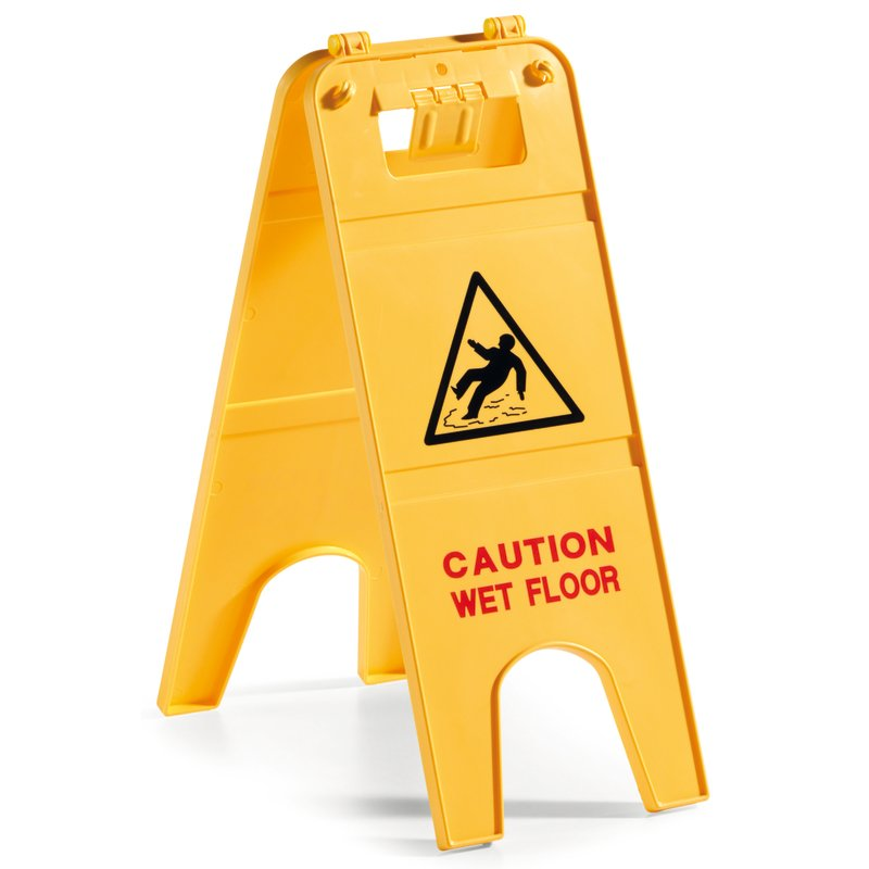 Warning sign - Cleaning items