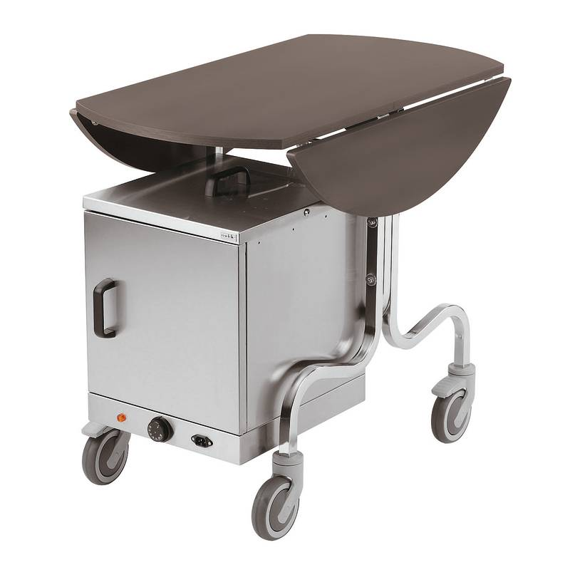 Room service trolley with thermic box paderno hotel for Hotel room service cart