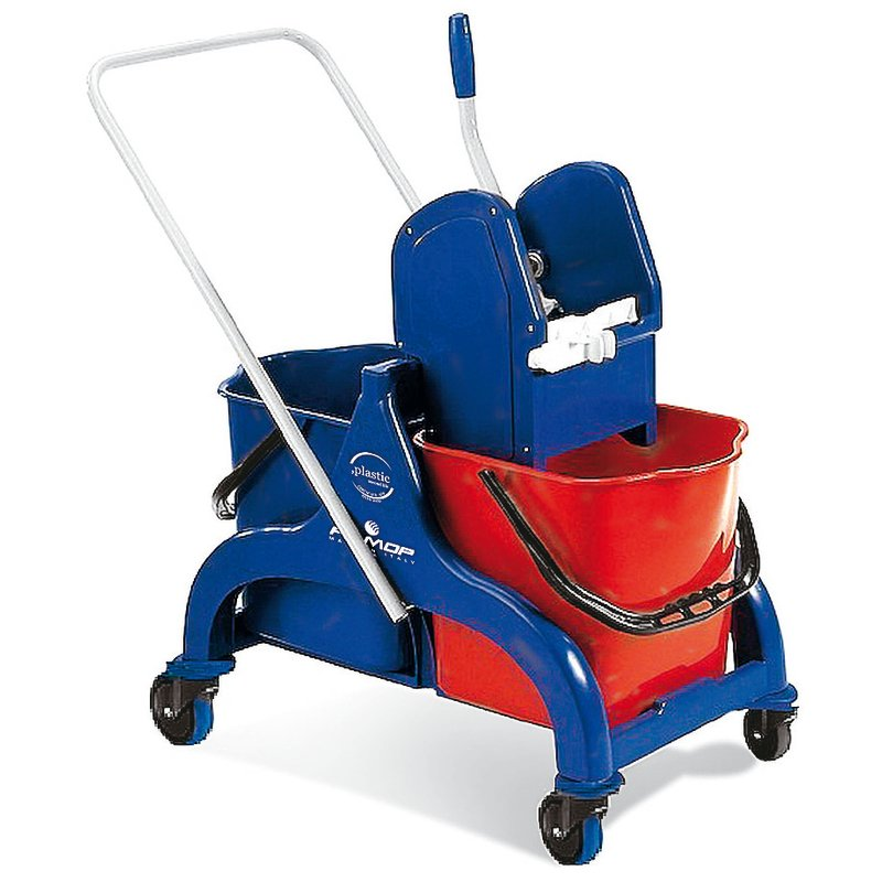 Floor cleaning trolley with 2 buckets - Cleaning items