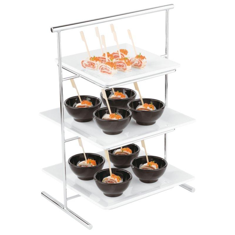 Service stand, chrome plated - Zen buffet