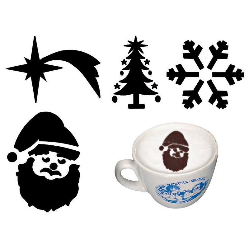 Mini stencils Christmas, set 4 pcs - Bar