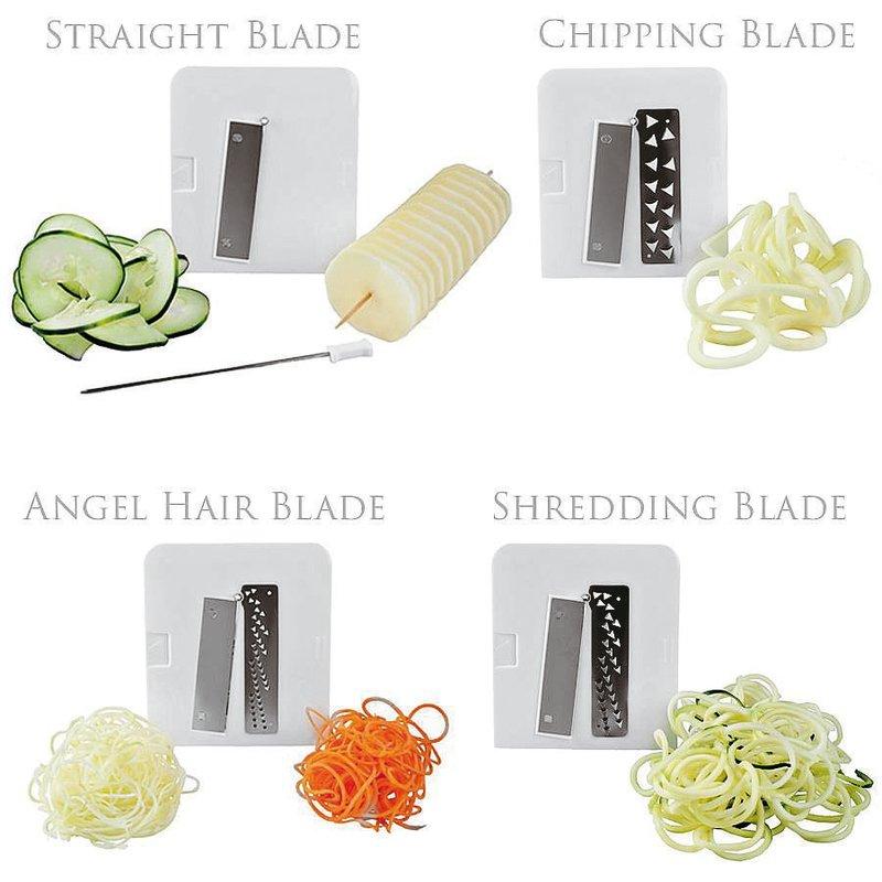 Taglia/affetta verdure, 4 lame - Spiralizer